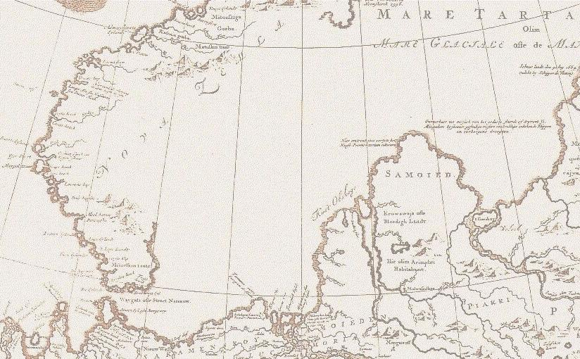 Map of Northern Russia, 17th century